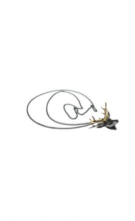 Thomas gold deer necklace
