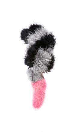 Popsicle Black/Grey/Pink (faux fur)