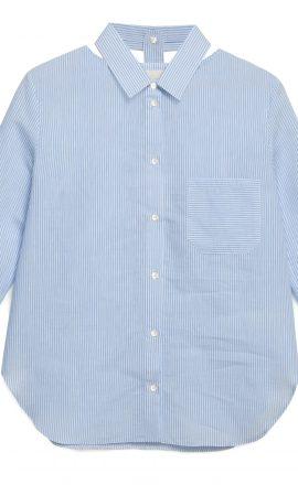Blue Cut Out Shirt