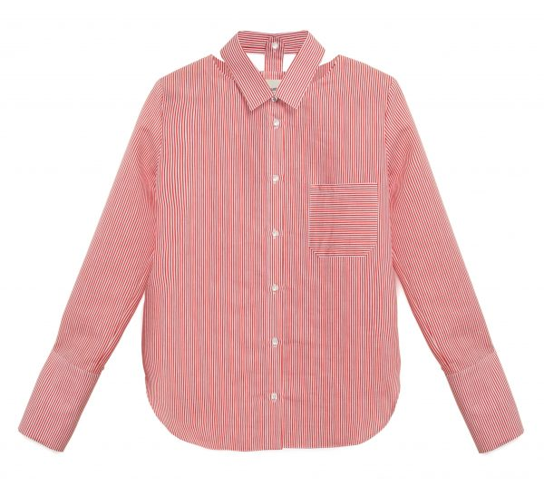 Red Cut Out Shirt