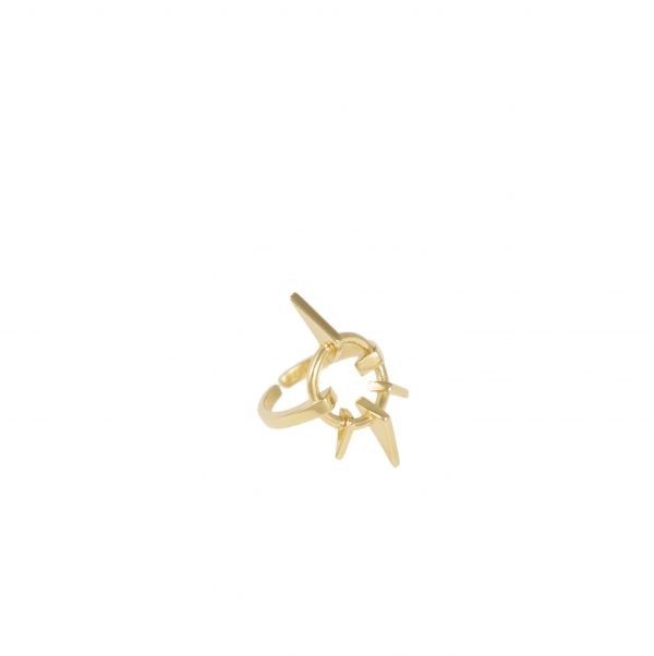 Geometric Love Ring Gold