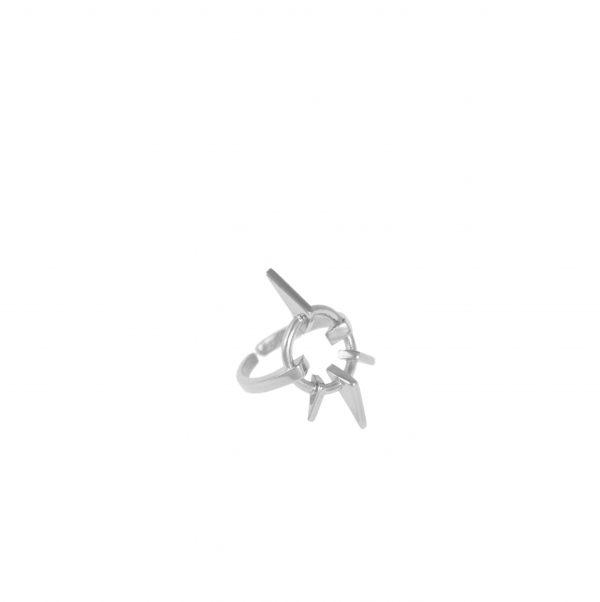 Geometric Love Ring Silver
