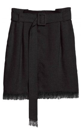 Black Paperbag Skirt