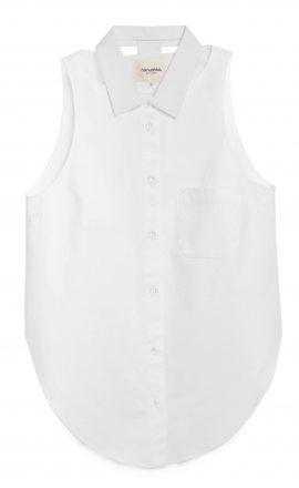 Cut Out White Shirt