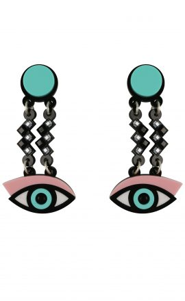 Easy Eye Earrings Pink