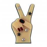 Peace Out Brooch