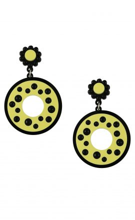 Polka Earrings Yellow