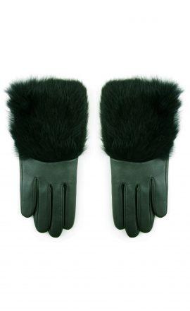 Gloves Sage Black Rabbit