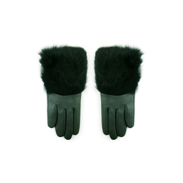 Gloves Sage Black Rabbit