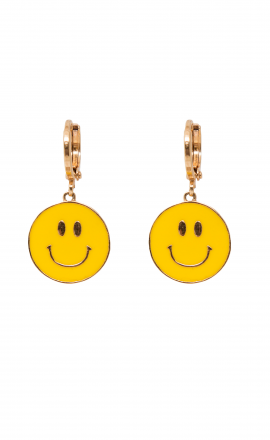 Be Happy Hoop Earrings