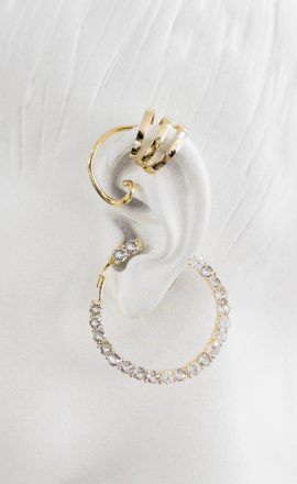 Earring 007 White Gold