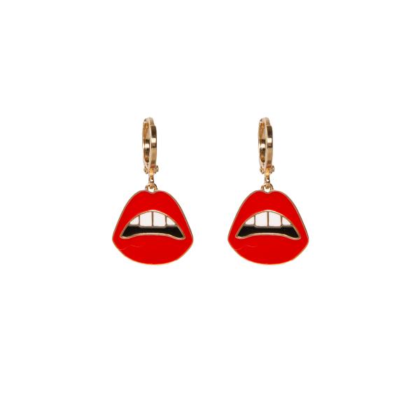 Pucker Up Hoop Earrings