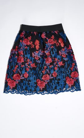 Lace Skirt Blue