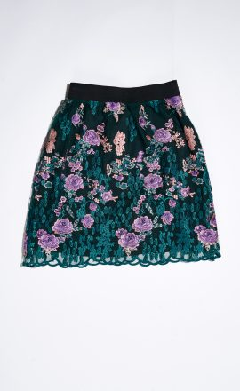 Lace Skirt Green