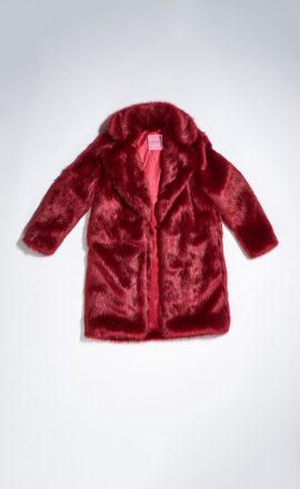 Red Faux Fur Coat