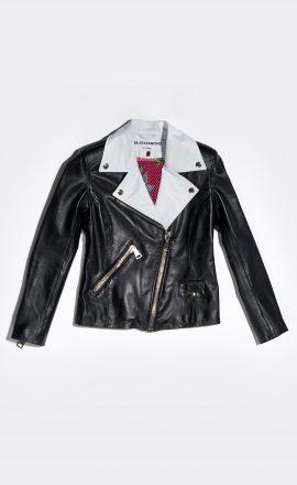Leather Jacket Black & White