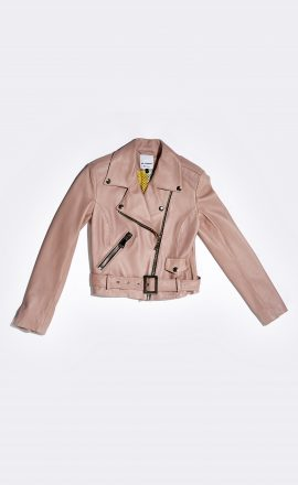 Leather Jacket Pastel Pink