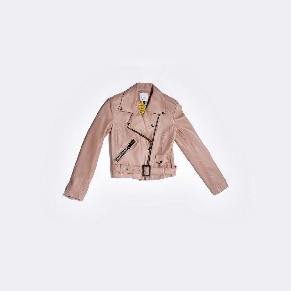Leather Jacket Pastel Pink