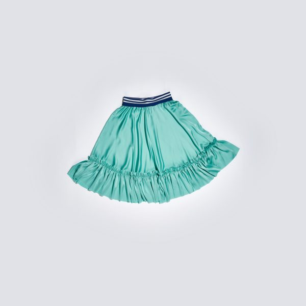 Green Silk Skirt