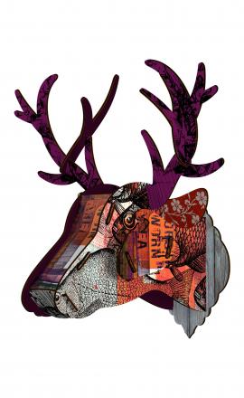 Trophy Deer Purple Branch