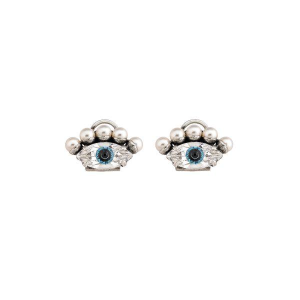 Silver Eye Earrings