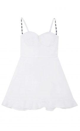 Bustier Dress White