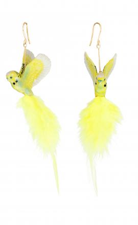 Yellow Parrot Earrings