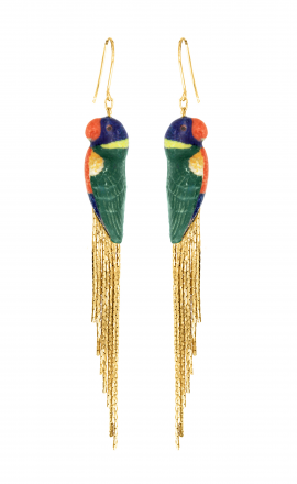 Rainbow Parrot Earrings