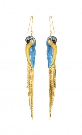 Blue Parrot Earrings