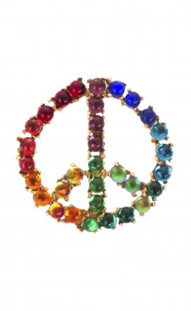 Brooch Peace Rainbow