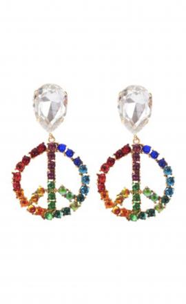 Earrings Peace Rainbow
