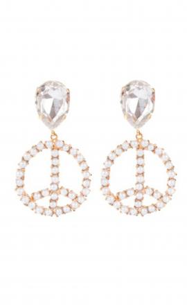 Earrings Peace White
