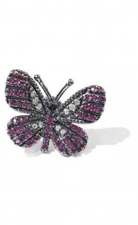 Pink Butterfly Earring