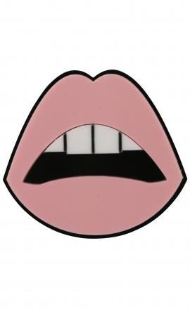 Sealed Lips Pink Brooch