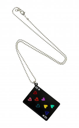 Black Card Pendant
