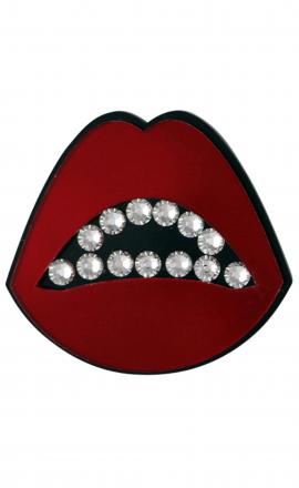 Red Lips Brooch