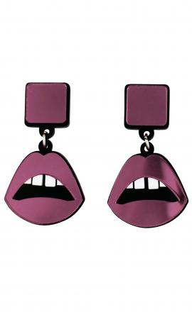 Pink Lips Earrings