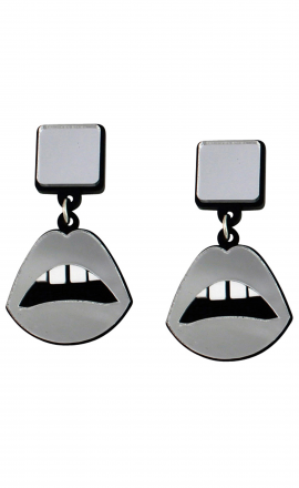 Sliver Lips Earrings