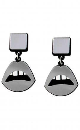 Sliver Lips Earrings