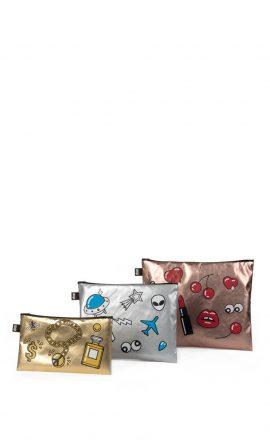 Zip Pockets Pop Metallic