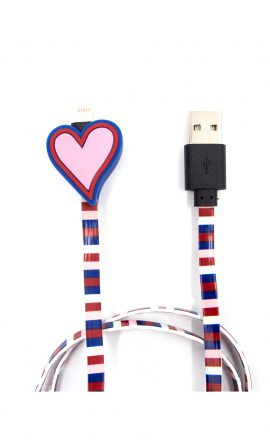 Charging Cable Heart Red