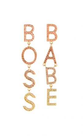 Earrings Boss Babe