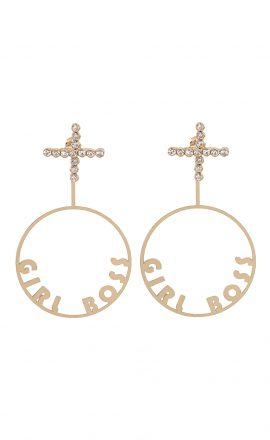 Earrings Girl Boss Gold